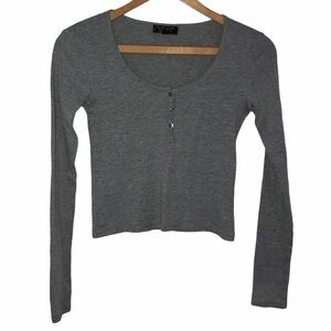 Size 2 Topshop Cropped Henley